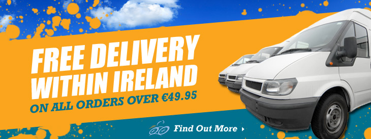 Free delivery within Ireland on all orders over 49.95 euro